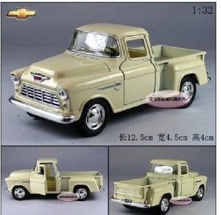 Brand New 132 Chevrolet 1955 Pickup Alloy Diecast Model Car Milky White Toy Colletion B 378 Toys & Games