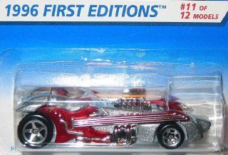 Mattel Hot Wheels 1996 164 Scale Silver & Burgundy Twang Thang Die Cast Car Collector #376 Toys & Games