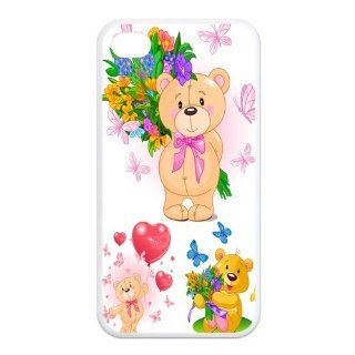 Mystic Zone Lovely Teddy Bear iPhone 4 Case for iPhone 4/4S Cover Fits Case KEK0929 Cell Phones & Accessories