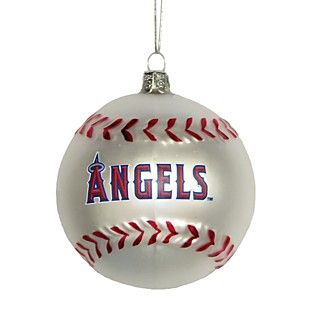 Kurt Adler Angels Glass Baseball Ornament's