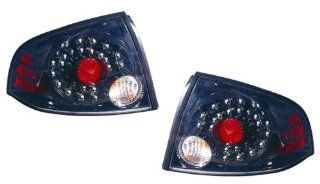 Nissan Sentra Replacement Tail Light Assembly (LED Black)   1 Pair Automotive