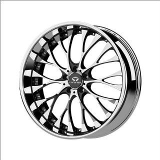 "Lorenzo WL27 Chrome Wheel with Gloss Black Window Finish (20x8.5""/5x120mm) Automotive"