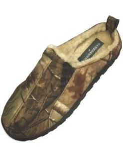 Realtree   Mens Saddlebred Camouflage Slipper, Khaki, Brown 31401 Medium Mens Camo Slippers Shoes