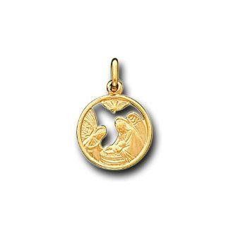 14K Solid Yellow Gold Baptism Small Charm Pendant IceNGold Jewelry
