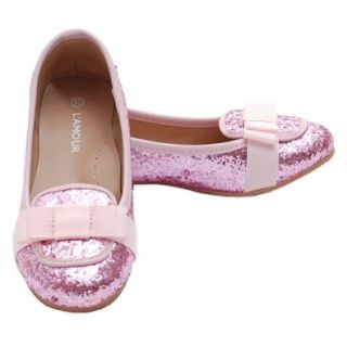 Pink Glitter Bow Slip On Loafer Dress Shoes Toddler Little Girls 7 4 Loafer Flats Shoes