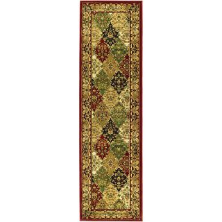 Lyndhurst Collection Multicolored/red Runner Rug (23 X 16)