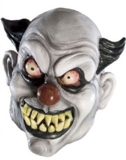 New Adult's Psycho Scary Evil Clown Vinyl Costume Mask Clothing