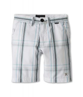 Hurley Kids Puerto Rico Plaid Short Boys Shorts (White)