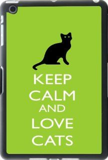 Rikki KnightTM Keep Calm and Love Cats Lime Green Color iPad Mini Smart Case for Apple iPad� Mini Computers & Accessories