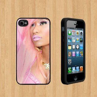Nicki Minaj pink Custom Case/Cover FOR Apple iPhone 5 BLACK Rubber Case ( Ship From CA ) Cell Phones & Accessories