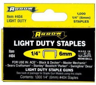 "Arrow Fastener 404 Light Duty Staple 1/4""   1000 Pk(pack of 5)   Hardware Staples"