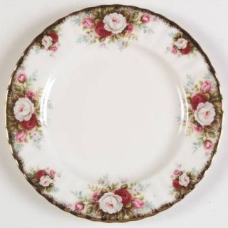 Royal Albert Celebration Salad Plate, Fine China Dinnerware   Montrose Shape,Whi