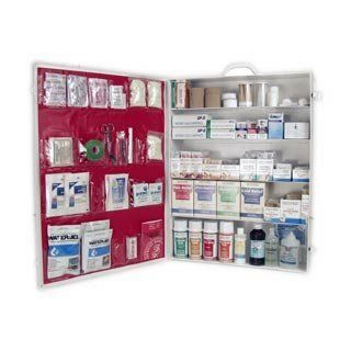 First Aid Kit Industrial 5 Shelf Osha Approved Fill Health & Personal Care