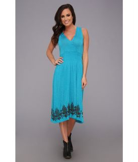 Stetson 8975 Rayon/Spandex Sleeveless Dress Womens Dress (Blue)