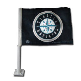 MLB Seattle Mariners Car Flag  Sports Fan Automotive Flags  Sports & Outdoors