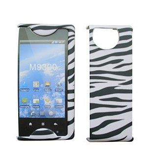 For Sprint Kyocera Echo M9300 Accessory   White Black Zebra Designer Hard Case Cover Cell Phones & Accessories