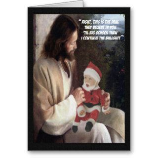 Funny Jesus and Santa Greeting Cards