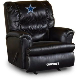 NFL Dallas Cowboys Big Daddy Leather Recliner  Sports Fan Recliners  Sports & Outdoors
