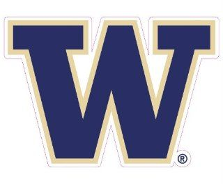 Washington Huskies Team Auto Window Decal (12 x 10  inch)  Automotive Decals  Sports & Outdoors