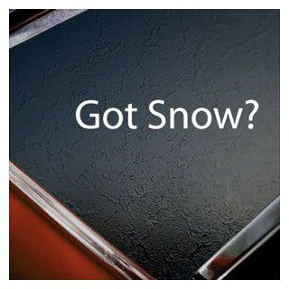 Got Snow? White Ski Snowboard Snowmobile White Silhouette Car Window Vinyl Sticker Decal Patio, Lawn & Garden