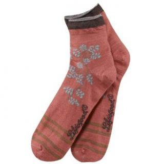 Life is good. Womens Merino Wool Roll Top Socks   Brick Red   M Clothing
