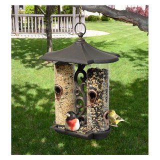Twin Tube Bird Feeder   Antique Copper  Wild Bird Feeders  Patio, Lawn & Garden