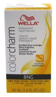 Wella Colorcharm Liquid #8NG Light Beige Blonde Haircolor  Chemical Hair Dyes  Beauty