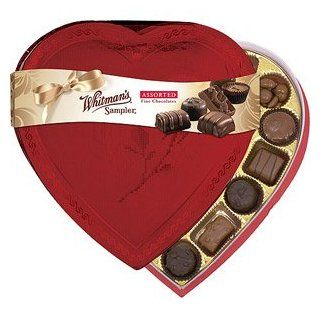 WHITMANS VALENTINES DAY CANDY CHOCOLATE HEART BOX ASSORTED FINE CHOCOLATES 13.2 OZ  Gourmet Chocolate Gifts  Grocery & Gourmet Food