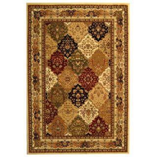 Lyndhurst Collection Multicolor/ Ivory Rug (4 X 6)