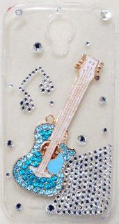 iPhashon BLUE GUITAR Bling Crystal Case Cover for Samsung Galaxy S4 i9500 Rock & Roll Cell Phones & Accessories
