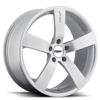 18x8 TSW Spa (Hyper Silver) Wheels/Rims 5x110 (1880SPA405110S72) Automotive