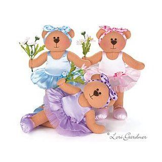 Adorable Set Of 3 Ballerina Dance Plush Bears Designed By Artist Lori Gardner Great Gift Idea For The Little Girl Ballet Dancer Toys & Games