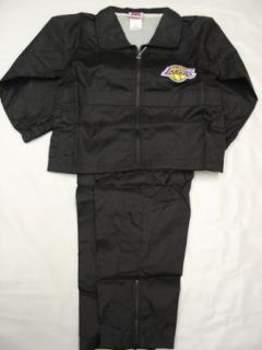 Los Angeles Lakers Youth / Kids 2 pc black Wind Suit jacket and pants Clothing