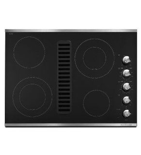 "KitchenAid KECD807XSS Architect II 30"" Stainless Steel Electric Smoothtop Cooktop   Downdraft Appliances"