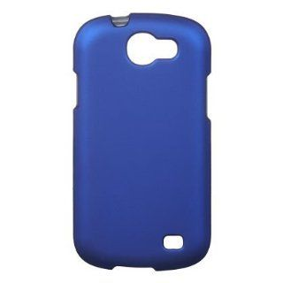 Blue Rubberized Snap On Protector Case for Samsung Galaxy Express SGH i437 Cell Phones & Accessories