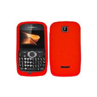 Motorola Theory WX430 Red Soft Silicone Gel Skin Cover Case Cell Phones & Accessories