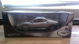 2006 Ferrari F430 diecast model car 118 scale diecast by Hot Wheels   Metallic Grey H3069 Toys & Games