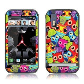 Fincibo (TM) Motorola Photon 4G Accessories Skin Vinyl Decal Sticker   Cute Owls In Forest Cell Phones & Accessories