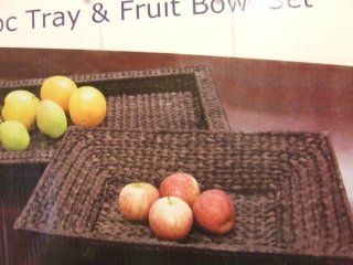 Banana Leaf 2 pc. Tray and Fruit Bowl Set Kitchen & Dining