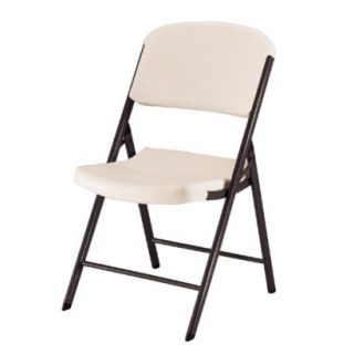 Lifetime Heavy Duty Folding Chair  Almond (4 Pack)