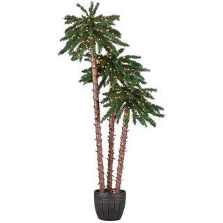 Sterling 5205 456c 4 Feet, 5 Feet and 6 Feet Pre Lit Potted Palm Tree Clear Light
