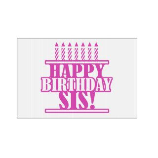 Happy Birthday Sister Lawn Sign