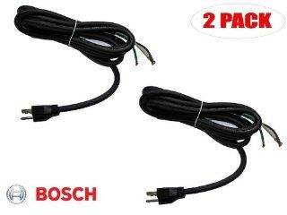 Skil HD77 / Bosch 1677M Circular Saw Replacement 14g 3 Wire 8 ft Power Cord # 1619X01570 (2 PACK)   Circular Saw Accessories