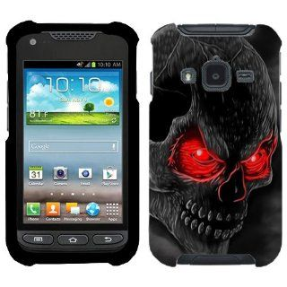 Samsung Galaxy Rugby Pro Red Eye Skull Hard Case Phone Cover Cell Phones & Accessories