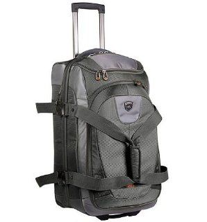 High Sierra Sports Company AT458   Adventure Travel   26 Inch Drop Bottom Wheeled Duffel   Carbon Gray Tunsten Black Sports & Outdoors