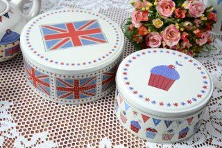 British Tea Party Cake Tins   Food Tins
