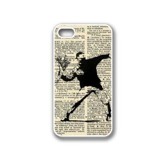 CellPowerCasesTM Banksy Flower Dictionary iPhone 4 Case White   Fits iPhone 4 & iPhone 4S Cell Phones & Accessories