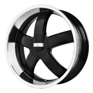 "Verde Custom Wheels Skylon Black Wheel with Machined Lip (20x8.5""/5x115 mm) Automotive"