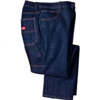Dickies Occupational Workwear FD235RNB Denim Cotton Relaxed Fit Women's Industrial Carpenter Jean with Straight Leg, Indigo Blue