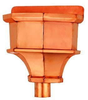 Good Directions 472PL Elizabeth Copper Leaderhead for 4 Inch Downspouts   Gutter Downspouts